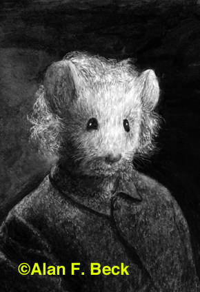 Almouse Einstein art by Alan F. Beck