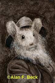 Walt Whitmouse art by Alan F. Beck
