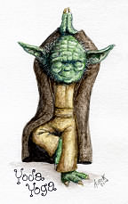 Yoda Yoga art by Alan F. Beck